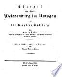 Chronik der Stadt Weissenburg im Nordgau und des Klosters Wülzburg