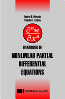 Handbook of Nonlinear Partial Differential Equations
