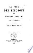 Le vite dei filosofi di Diogene Laerzio