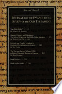Journal for the Evangelical Study of the Old Testament  3 2