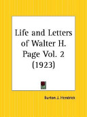 Life and Letters of Walter H  Page 1923