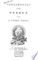 Verzameling der werken van A. Fokke, Simonsz