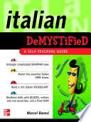 Italian Demystified Book PDF