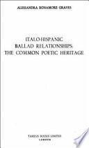 Italo-Hispanic Ballad Relationships