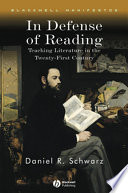 In Defense Of Reading book