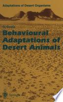 Behavioural Adaptations of Desert Animals