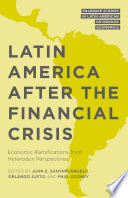 Latin America After The Financial Crisis book
