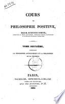 Cours de philosophie positive par Auguste Comte