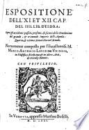 Espositione dell' XI. et XII. cap. de IV. Libro d'Esdra