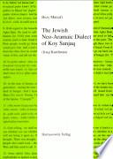 The Jewish Neo Aramaic Dialect of Koy Sanjaq  Iraqi Kurdistan