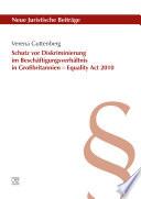 Schutz vor Diskriminierung im Beschäftigungsverhältnis in Großbritannien – Equality Act 2010
