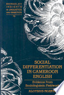 Social Differentiation In Cameroon English book