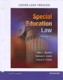 Special Education Law  Pearson Etext with Loose Leaf Version    Access Card Package