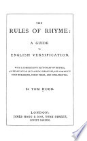 The Rules of Rhyme  a Guide to English Versification
