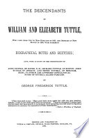 The Descendants of William and Elizabeth Tuttle