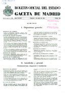 Bolet  in oficial del estado  Gaceta de Madrid