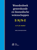 Woordenboek Geneeskunde En Biomedische Wetenschappen E N N E