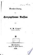 Beschreibung des Herzogthums Nassau
