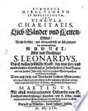 Synopsis Miracvlorvm Et Beneficiorvm, Sev Vincvla Charitatis