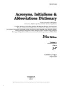 Acronyms  Initialisms   Abbreviations Dictionary  J P