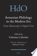 Armenian Philology in the Modern Era