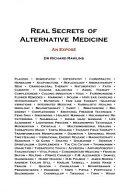 Real Secrets Of Alternative Medicine : medicine (cam). the nhs funds nearly ten per...