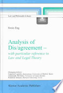 Analysis of Dis/agreement - with particular reference to Law and Legal Theory