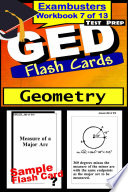 GED Test Prep Geometry Review  Exambusters Flash Cards  Workbook 7 of 13