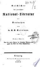 Geschichte Der Poetischen National-Literatur Der Deutschen