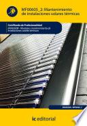 Mantenimiento de instalaciones solares t  rmicas  ENAE0208