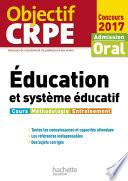 Objectif CRPE   ducation et syst  me   ducatif   2017