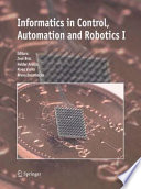 Informatics In Control Automation And Robotics I book