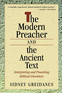The Modern Preacher and the Ancient Text