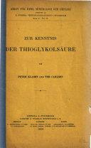 Zur kenntnis der thioglykolsäure