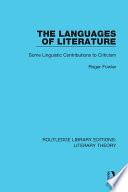The Languages Of Literature
