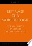 Beiträge Zur Morphologie