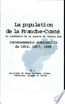 La Population de la Franche comte Tome 2