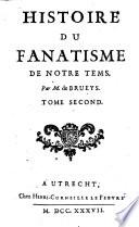 Histoire du fanatisme de notre temps