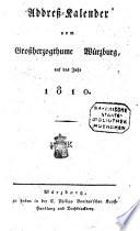 Addreß-Kalender vom Großherzogthume Würzburg