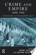 Crime and Empire 1840   1940