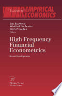 High Frequency Financial Econometrics