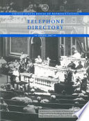 United States House of Representatives Telephone Directory, Spring 2007