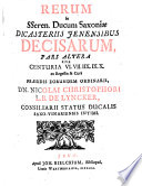 Res in     dicasteriis Ienensibus decisae