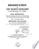 Dissertation sur les camps romains du d  partement de la Somme  avec leur description