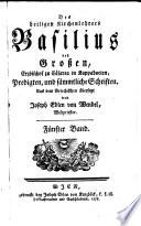 Predigten und sämmtliche Schriften. Aus dem Griechischen übers. von Joseph Edlen von Wendel