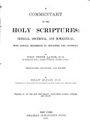 Commentary On The Holy Scriptures : ...