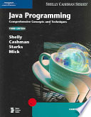 Java Programming: Comprehensive Concepts and Techniques