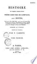 Histoire du fameux prédicateur Frère Gerunde de Campazas, dit Zotès