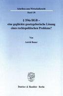 Paragraph 354a HGB - eine geglückte gesetzgeberische Lösung eines rechtspolitischen Problems?