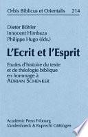 L'Ecrit et l'Esprit
